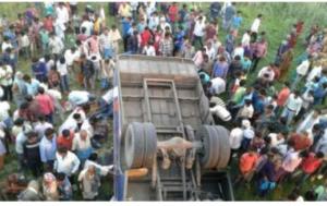 12 killed as speeding bus falls into roadside pit in Bihar