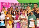 Poor men's 'Santa' gifts cheques to 37 victims of Maoists violence on Christmas