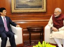 Top Chinese leader Meng Jianzhu meets Indian Prime Minister Modi