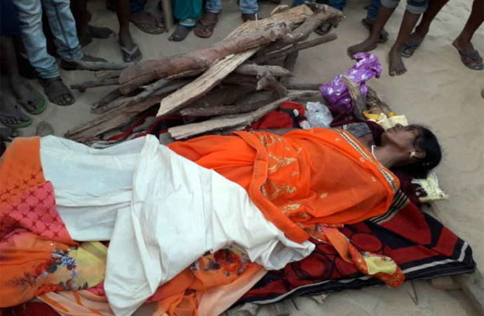 Cops save childless woman being cremated alive in India's Bihar state