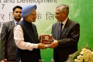Former PM Manmohan Singh conferred with Indira Gandhi Peace prize