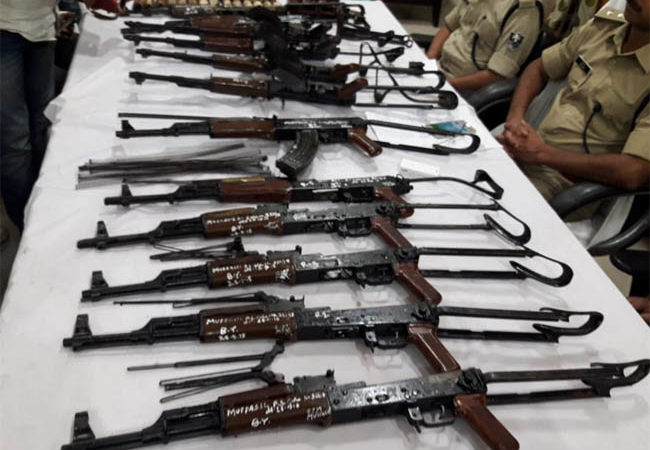 Bihar on power keg? 12 AK-47 rifles recovered from well