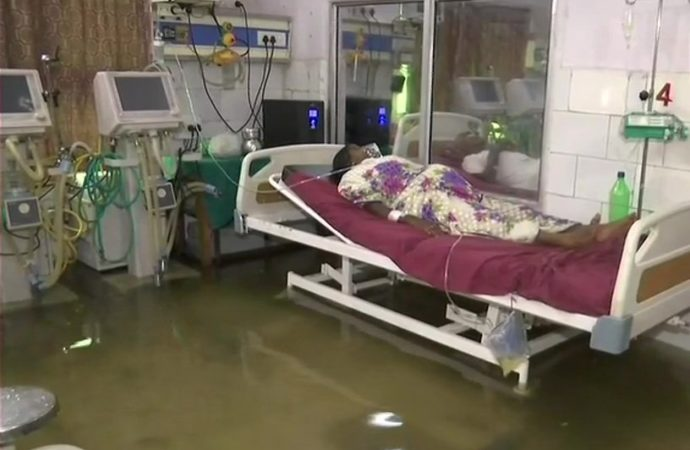 Swimming fishes in ICU, flooded NMCH, caved-in Bailey Road expose the system in Bihar