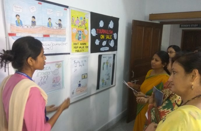 Students' creativity wins laurels at poster exhibition in Patna Women's College