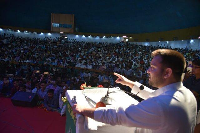 Tejashwi vows to smash 'stolen' throne of Bihar chief minister Nitish Kumar