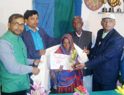 Poor Muslim widow builds toilet at home by begging, felicitated