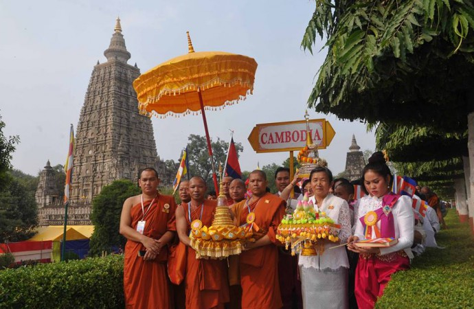 Security beefed up at Mahabodhi Temple at Bodh Gaya in view of Buddhist rituals