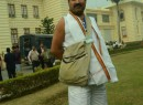 Partly nude BJP lawmaker barred from entering Bihar assembly, registers protest