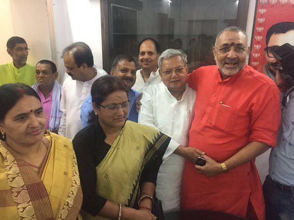 BJP's 'dark horse' Gopal Narayan Singh files nomination for Rajya Sabha