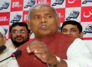 Mob attacks former CM Manjhi's convoy, torches convoy car in Bihar