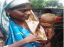 Hapless mother abandons starving baby along busy road; villagers reunite