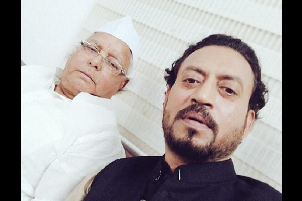 'Madaari' actor shares 'bawaal' selfies with Lalu