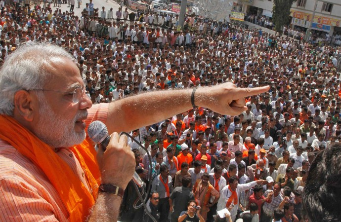 Modi greeted with heavy protest, shown black flags in Andhra Pradesh