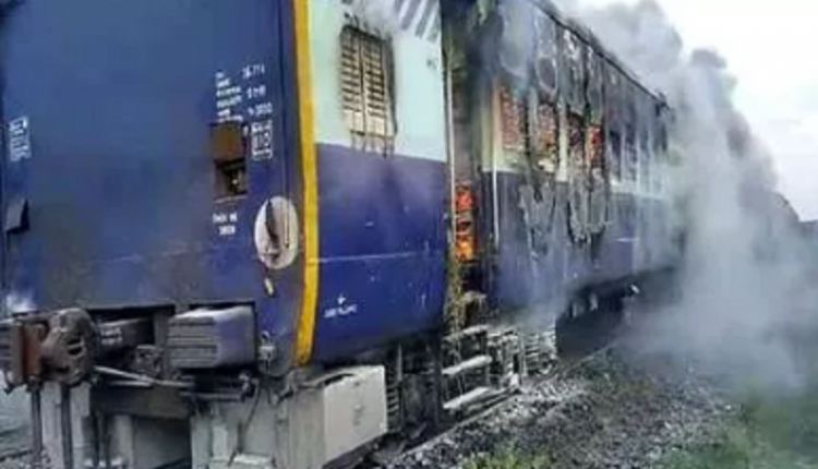Express train goes up in flames at Darbhanga rly station, panic grips passengers