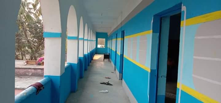 migrants, Bihar migrants, school painting, migrants paint schools, Bihar, Bihar News, Coronavirus, Lockdown