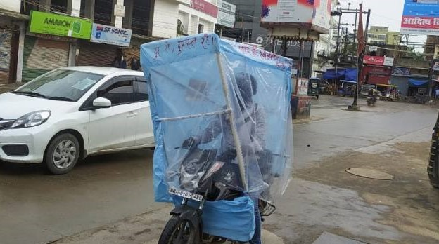 Corona, Coronavirus, Corona-proof bike, covid-19, covid19, Bihar, Bihar corona cases, Bihar News