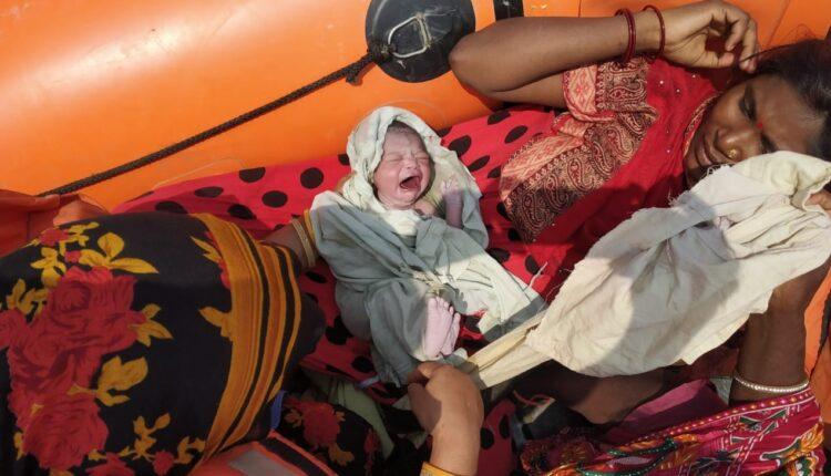 delivery, rescue boat, NDRF, Bihar floods, Bihar, Bihar News,