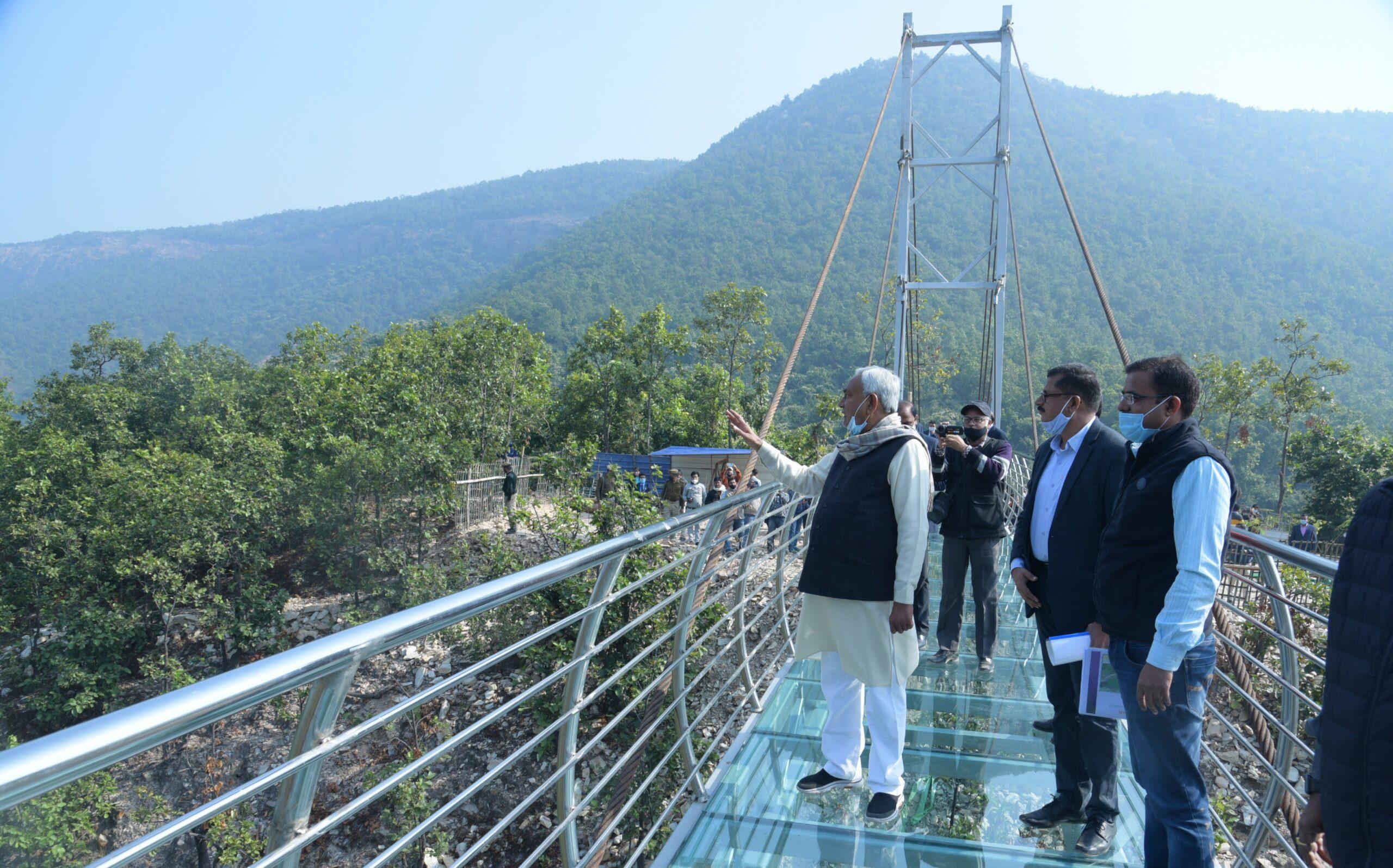 glass bridge, Rajgir, Nalanda, Bihar, Rajgir Nature Safari