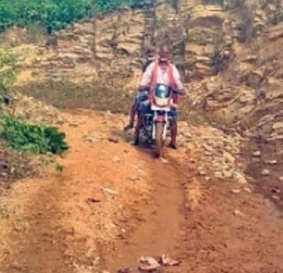 hill cutting, jamui, road construction, Bihar,