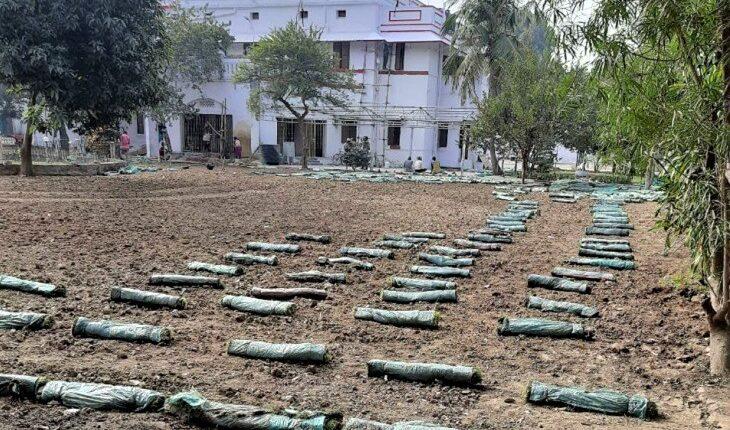 bungalow renovation, Renu Devi, Tarkishore Prasad, grass fitting, BJP, Patna, Bihar, BIhar news, Kolkata