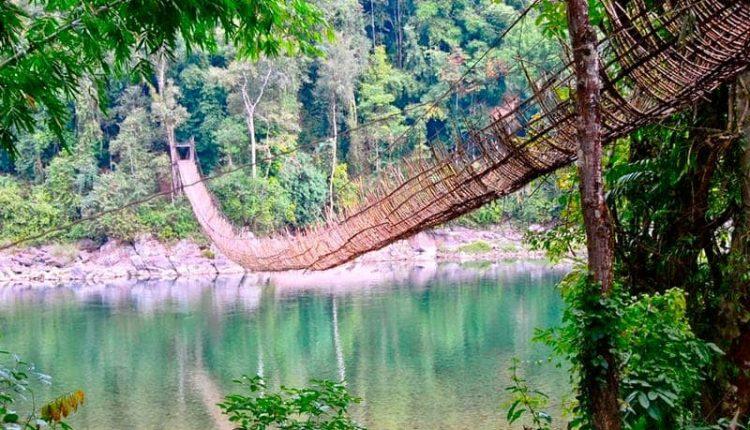 Arunachal Pradesh, hanging bridges, bamboo bridges, hnaging bamboo bridges, Arunachal