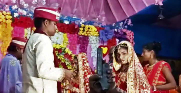 bride,celebratory firing, wedding, Supaul, Bihar